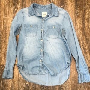 Chambray Button down Mudd long Sleeved Shirt